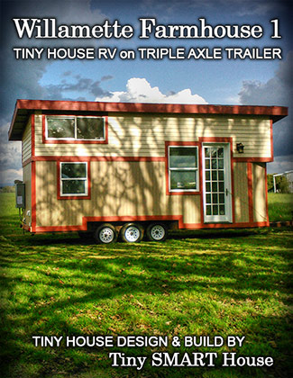 Beautiful Oregon Trail design and built by Tiny SMART House LLC, sold to two really wonderful, interesting people living