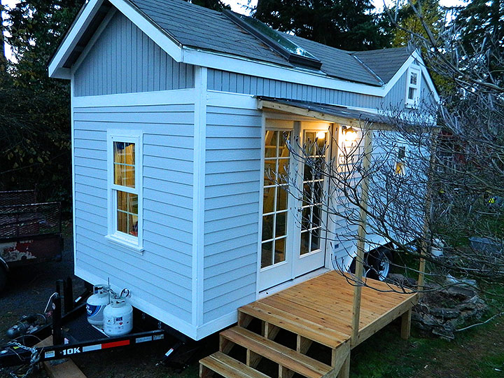 Tiny Smart House, Albany, Oregon, Oregon Trail, exterior, porch