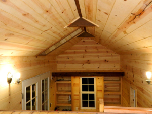 Tiny Smart House, Albany, Oregon, Oregon Trail, interior, woodwork