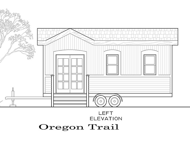 Tiny Smart House, Albany, Oregon, Oregon Trail, exterior, elevation
