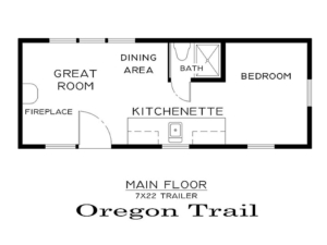 Tiny Smart House, Albany, Oregon, Oregon Trail, floor plan