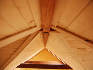 Tiny Smart House, Albany, Oregon, Washington Craftsman, Ceiling detail, woodwork, interior