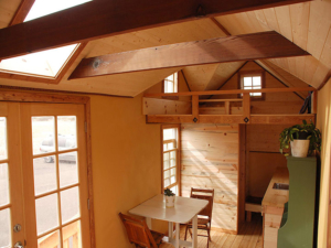 Tiny Smart House, Albany, Oregon, Washington Craftsman, sleeping loft, interior