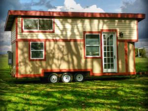 Tiny Smart House, Albany, Oregon, Willamette Farmhouse 1, RV on Triple Axle Trailer