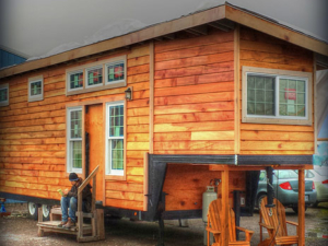 Tiny Smart House, Albany, Oregon, Willamette Farmhouse 2, Exterior, RV on 5th Wheel trailer