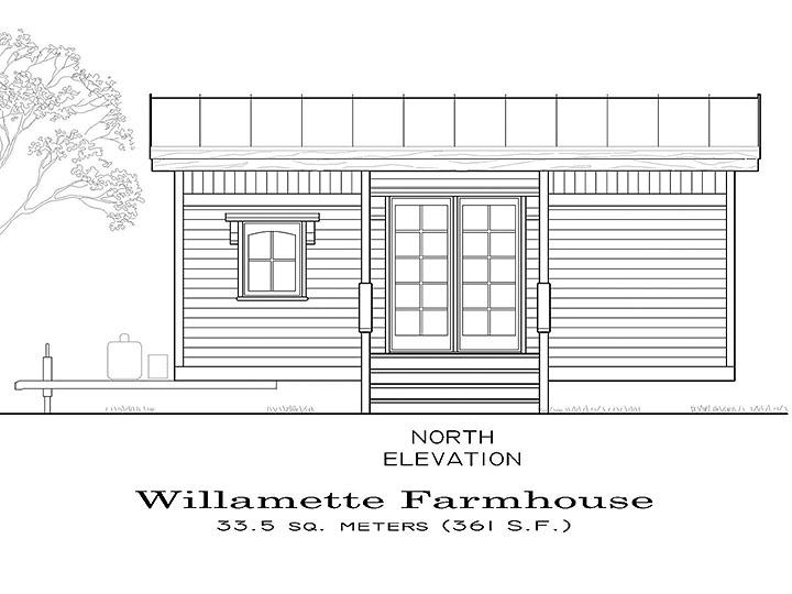 Tiny Smart House, Albany, Oregon, Willamette Farmhouse, exterior, elevation